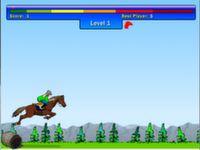 Pferde Hindernis Rennen